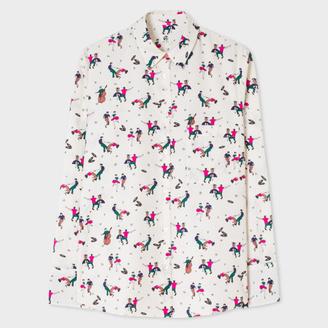 Women's Cream 'Dancers' Print Cotton Shirt $275 thestylecure.com