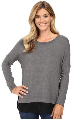 Karen Kane Lace Hem Sweater Top Women's Sweater