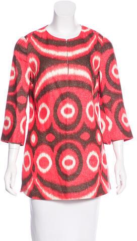 Tory BurchTory Burch Batik Print Round Neck Tunic