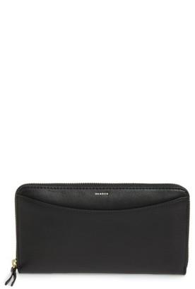 Women's Skagen Leather Continental Wallet - Black $125 thestylecure.com