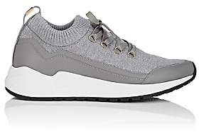 Buscemi Men's RUN1 Knit & Leather Sneakers - Gray