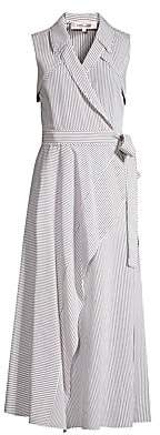 Diane von Furstenberg Women's Charleigh Striped Sleeveless Shirtdress