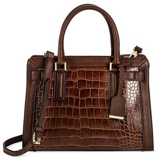 Women's Faux Leather Belted Tote with Crossbody Strap Handbag  -Merona $39.99 thestylecure.com