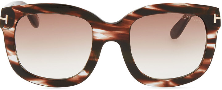 Tom Ford Christophe Oversized Sunglasses, Brown