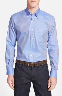 Men's Big & Tall Peter Millar 'Nanoluxe' Regular Fit Wrinkle Free Sport Shirt $125 thestylecure.com