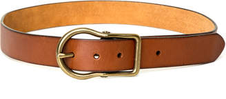 Max Studio matte finish round buckle belt