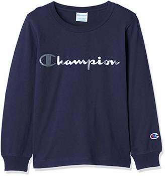 Champion (チャンピオン) - [チャンピオン] プリント ロングスリーブTシャツ CS4750 ボーイズ ネイビー 日本 90 (日本サイズ90 相当)