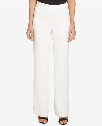 CeCe Pull-On Straight-Leg Pants