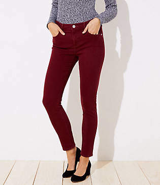 LOFT Curvy Soft Skinny Jeans in French Burgundy