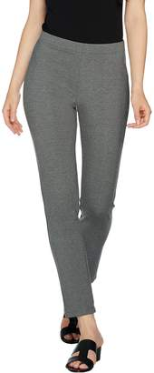Halston H By H by Petite Pull-On Knit Ponte Ankle Pants