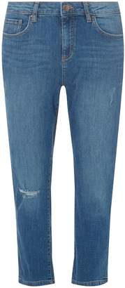 Dorothy Perkins Womens Blue 'Taylor' Cropped Cigarette Jeans