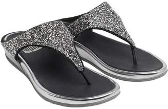 0cfc382520b01 FitFlop Womens Banda Crystal Toe Post Sandals Pewter