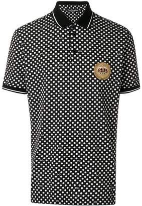 Dolce & Gabbana printed polo shirt