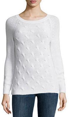 LIZ CLAIBORNE Liz Claiborne Long Sleeve Crew Neck Pullover Sweater-Talls $18.99 thestylecure.com