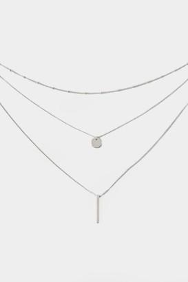francesca's Ashland Layered Coin Necklace - Silver