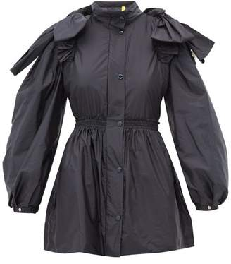 Simone Rocha 4 Moncler Susan Bow Embellished Ruffled Jacket - Womens - Navy