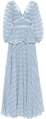 STAUD Panarea cotton-blend maxi dress