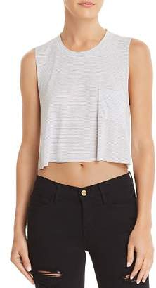 Project Social T Save It Striped Cropped Tank