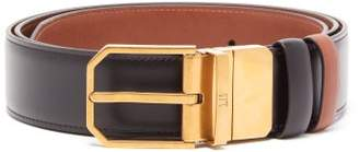Dunhill Duke Reversible Leather Belt - Mens - Black Tan