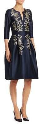Ahluwalia Floral Embellished Dress