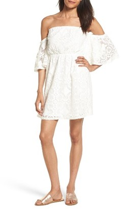 Women's Soprano Blouson Lace Minidress $55 thestylecure.com