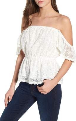 Cupcakes And Cashmere Breena Lace Off the Shoulder Top