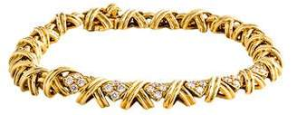 Tiffany & Co. 18K Diamond Signature X Link Bracelet