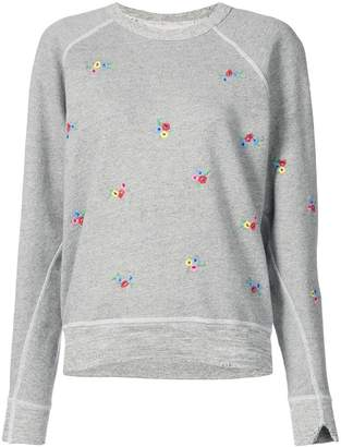 The Great embroidered college sweatshirt