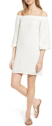 Women's Soprano Bell Sleeve Off The Shoulder Dress $49 thestylecure.com