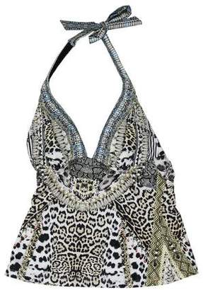 Camilla Embellished Swim Top w/ Tags