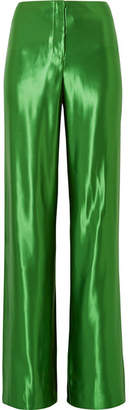Jason Wu Satin Wide-leg Pants - Bright green