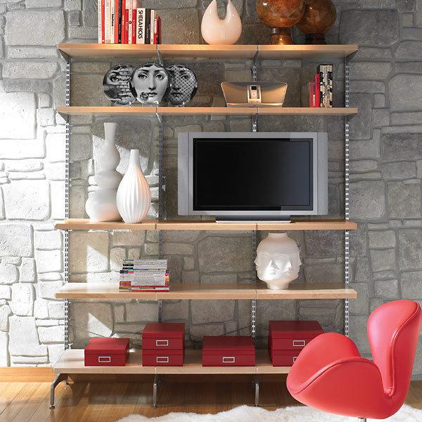 Birch & Platinum elfa décor freestanding Entertainment Wall