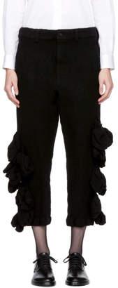 Comme des Garcons Black Wool Bulbous Attachments Trousers