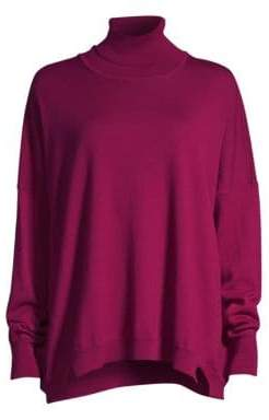 Beatrice. B Boxy Wool Turtleneck Sweater