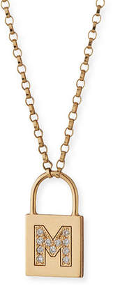 Chicco Zoe 14K Padlock Initial Pendant Necklace with Diamonds