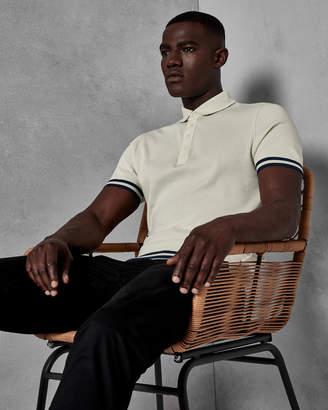 Ted Baker FIZYFAN Stripe detail cotton polo shirt