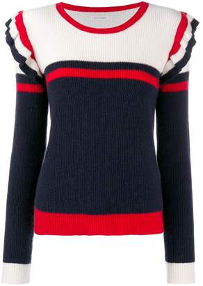 Parker Chinti & colour-block frill sweater