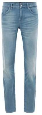 BOSS Hugo Slim-fit jeans in dark-blue comfort stretch denim 32/32 Turquoise