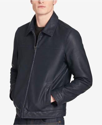 Tommy Hilfiger Men Faux Leather Bomber Jacket