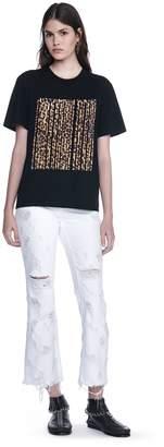 Alexander Wang Leopard Print Bonded Barcode Tee