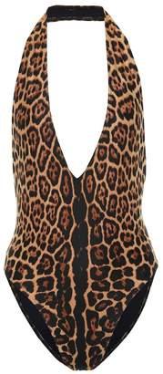 Saint Laurent Leopard-print swimsuit