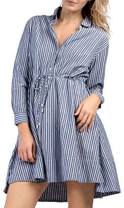 French Connection Stripe Cotton Shirtdress