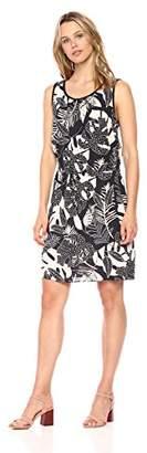Cooper & Ella Women's Print Hannah Braided Detail Tank Dress