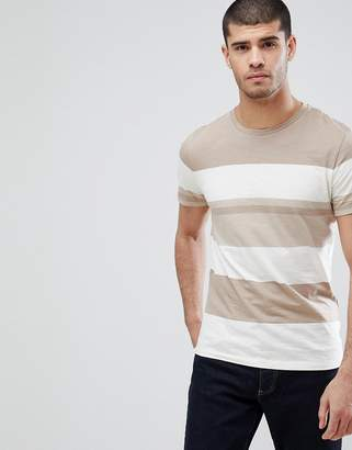 Selected T-Shirt With Block Stripe