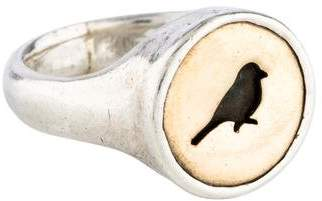 Me & Ro Me&Ro Two-Tone Bird Cut-Out Signet Ring