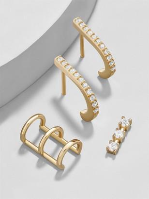 BaubleBar Minimo 18K Gold Plated Earring Set
