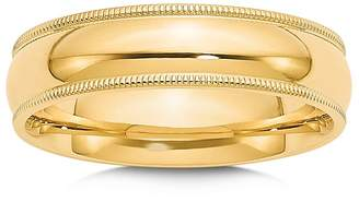 Bloomingdale's Men's 6mm Milgrain Comfort Fit Wedding Band in 14K Yellow Gold - 100% Exclusive