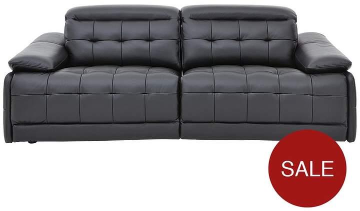 Buy Ellis Premium Leather 3-Seater Power Recliner Sofa!