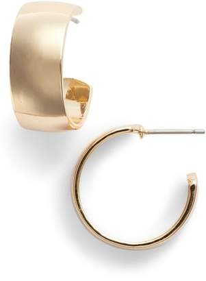 Halogen Wide Hoop Earrings