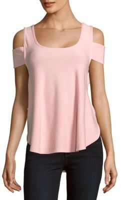Solid Cold-Shoulder Top $70 thestylecure.com